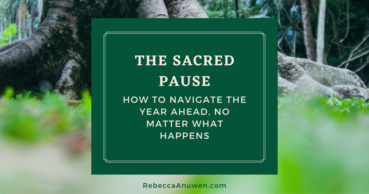 14 The Sacred Pause - how to navigate the year ahead no atter what happens blog