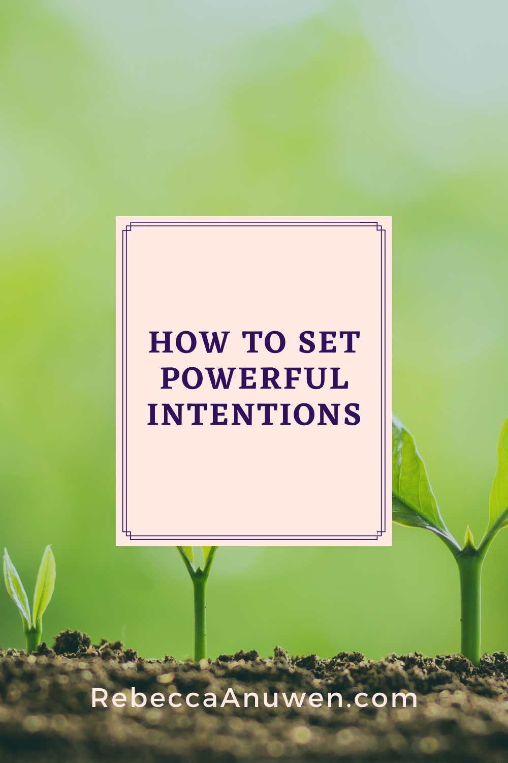 How to set powerful intentions pinterest